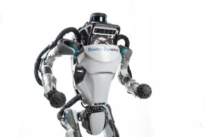 Photograph of Atlas robot, walking